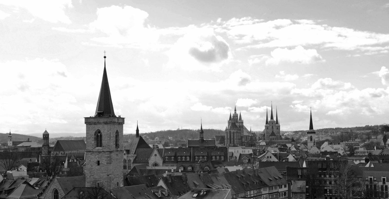 Die Dächer von Erfurt